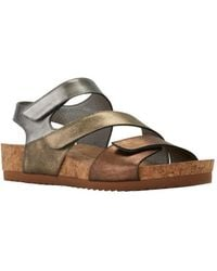 4eb9a4d5a Lyst - Tommy Hilfiger Women s Lorine Leather Thong Sandal in Brown