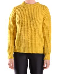 Peuterey - Women's Yellow Wool Jumper - Lyst