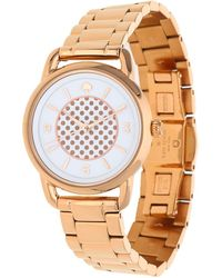 Kate Spade - Watch New York Pink Gold Ksw1167 - Lyst