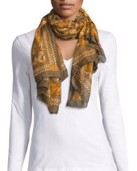 20f3e447c6fa Versace - Women s Breezy Floral Print Brown Modal Cashmere Large Scarf  Ifo14r1 It1040 I7916 - Lyst
