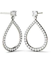 Charles & Colvard - Forever Brilliant 4.0mm Round Moissanite Drop Earrings, 1.72cttw Dew - Lyst