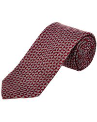 Cole Haan - Red Edgewater Triangle Silk-blend Tie - Lyst