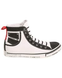 Diesel Men's White Fabric Hi To... clearance for cheap PckETcq
