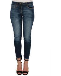 Elisabetta Franchi - Women's Blue Cotton Jeans - Lyst
