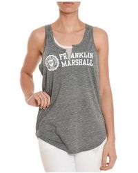 Franklin & Marshall | Women's Grey Viscose Tank Top | Lyst