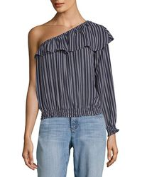 BB Dakota - Valerie Striped One-shoulder Top - Lyst
