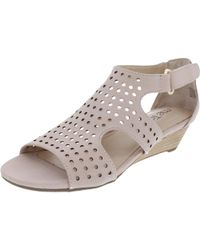 Me Too - Womens Sydnee 8 Open Toe Cut-out Wedge Sandals - Lyst