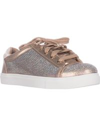 Material Girl - Mg35 Melanie Flat Lace-up Fashion Sneakers, Bronze - Lyst