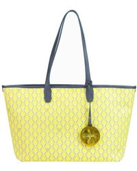 V73 - Women's Yellow Faux Leather Tote - Lyst