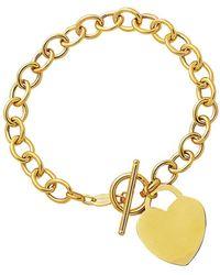 Jewelry Affairs - 14k Yellow Gold Chain Link Heart Bracelet, 7.50 - Lyst