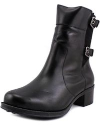 Andre Assous - Laura-a Women Round Toe Leather Black Ankle Boot - Lyst