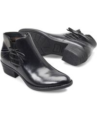 Born - Womens Bowlen Leather Almond Toe Ankle Cowboy Boots - Lyst