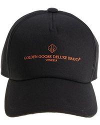 Golden Goose Deluxe Brand - Men's Black Cotton Hat - Lyst