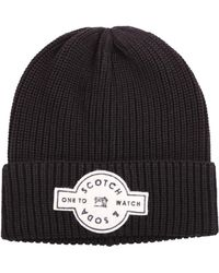 fbcb1889a9d Scotch   Soda - Men s Black Cotton Hat - Lyst