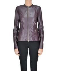 Patrizia Pepe - Women's Mcglcsg04042i Burgundy Polyurethane Outerwear Jacket - Lyst