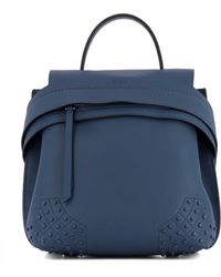 Tod's | Women's Blue Leather Backpack | Lyst