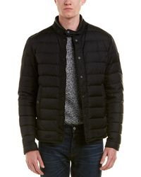 b7d90ec62 Moncler 'hanriot' Leather Trim Quilted Down Moto Jacket in Black for ...