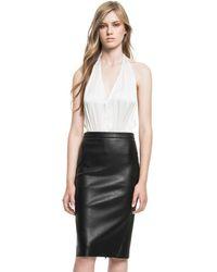 Lamarque - Avana Stretch Leather Pencil Skirt - Lyst