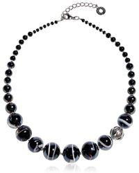 Antica Murrina - Optical 2 - Black Murano Glass Choker - Lyst