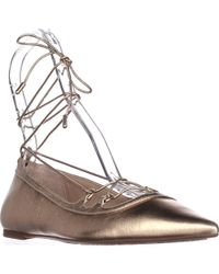 Michael Kors - Michael Tabby Flat Lace Up Ballet Flats - Lyst