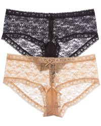 Juicy Couture - Set Of 2 Lace Hipster - Lyst