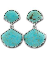Pangea Mines - 1.5 Inch Turquoise Fan Drop Earrings - Lyst