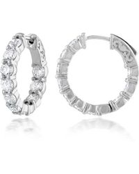 Diana M. Jewels - 18k White Gold 20 Round Cut Diamonds With 4.20 Carats Of Total Diamond Weight - Lyst
