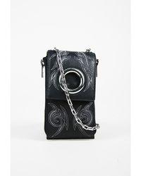 """Alexander Wang - 1 Black Grained Leather """"riot Shoulder Wallet"""" Bag - Lyst"""