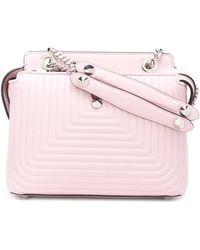 Fendi - Women's Pink Leather Shoulder Bag - Lyst