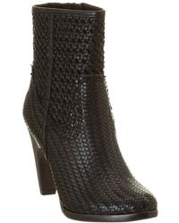 Frye - Women's Celeste Woven Leather Short Bootie - Lyst