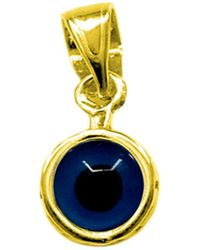 Jewelry Affairs - Sterling Silver 18 Karat Gold Overlay Plated Greek Meandros Evil Eye - Diameter 7.5 Mm - Lyst