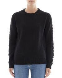 P.A.R.O.S.H. - P.a.r.o.s.h. Women's Black Wool Sweater - Lyst