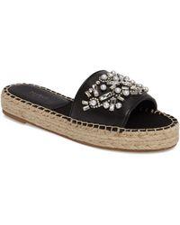 Botkier - Womens Jin Leather Open Toe Casual Slide Sandals - Lyst