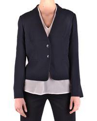 Armani Jeans - Women's Blue Viscose Blazer - Lyst