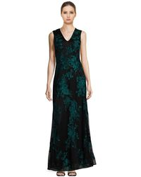 David Meister - Floral-embossed Gown - Lyst