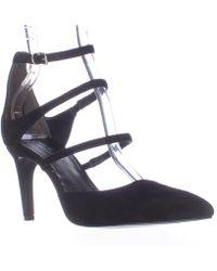 Charles David - Lena Multi Strap Pointed Toe D'orsay Heels - Black - Lyst
