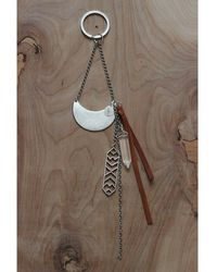 Love Leather - Silver Warrior Key Ring - Lyst