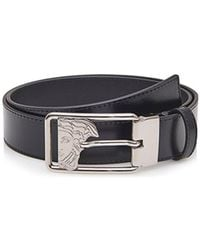 e2bfe378 Lyst - Versace Versace Collection Saffiano Medusa Buckle Belt in ...
