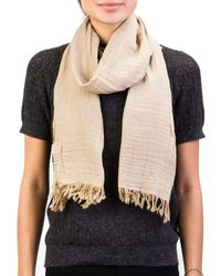 Versace - Collection Women's Cotton Scarf Brown Large - Lyst