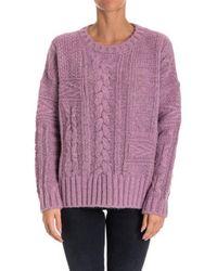 Essentiel - Women's Orkfantasystitchsweaterpu16 Pink Polyamide Jumper - Lyst