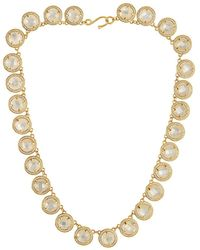 Melinda Maria - 18k Plated Mother-of-pearl & Cz Necklace - Lyst