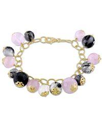 Catherine Malandrino - Rutilated Charm Bracelet - Lyst