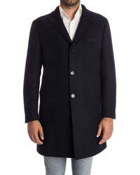 Tagliatore - Men's Blue Wool Coat - Lyst