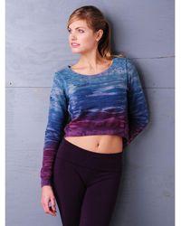 Hard Tail - Crop Layer Sweatshirt - Lyst