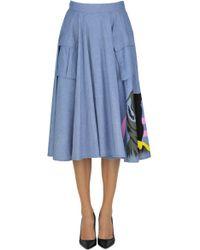 Saucony - Women's Light Blue Cotton Skirt - Lyst