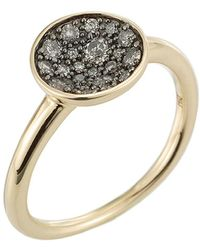 Jewelista - Diamond Concave Ring In 14k Yellow Gold - Lyst
