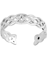 Jewelry Affairs - 14k White Gold Celtic Knot Weave Design Cuff Style Adjustable Toe Ring - Lyst