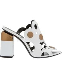 Pierre Hardy - Women's White Leather Sandals - Lyst