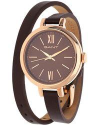 GANT - Watch Elizabeth Dark Brown W71403 - Lyst
