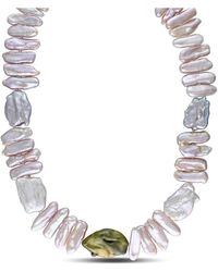 Catherine Malandrino - Freshwater Cultured Pearl Strand Necklace - Lyst